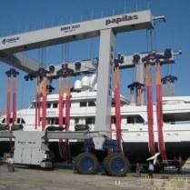 46m Charisma annual haulout: Piraeus, Greece Sept 2009