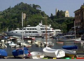 M/Y Katharine stern to in Portofino, Italy