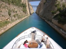 M/Y Lady Michelle transiting the Corinth Canal