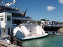 M/Y Princess Mariana exiting the St Maarten Bridge