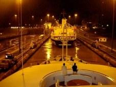 M/Y Princess Mariana transiting the Panama Canal